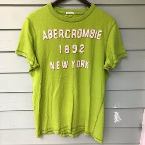 2000s Abercrombie Lime Green Muscle Fit T Shirt